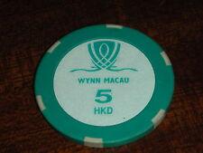 JETON du CASINO 5 HKD dollars Steve Wynn CHIPS macau MACAO HONG KONG chip POKER