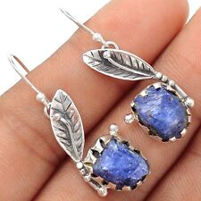 Natural Tanzanite Crystal 925 Sterling Silver Earrings Jewelry SE102300