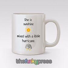 E'Sunshine mescolato con un piccolo Uragano Tazza Tè Caffè Regalo