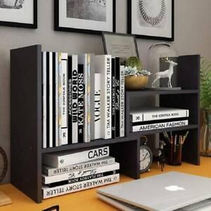 Adjustable Desktop Bookshelf Display Shelf Rack Bookcase Office Desk Organizer