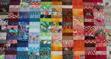 """100 pre-cut 4x4"""" cotton fabric quilt charm patchwork crazy squares bundle lot"""