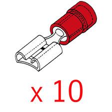 10 Cosses Femelle 6.4 MM Couleur Rouge pour Câble de 0,5 à 1 mm²