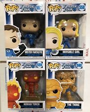 Funko Pop Fantastic Four Lot Torch Thing Reed Sue New!!!