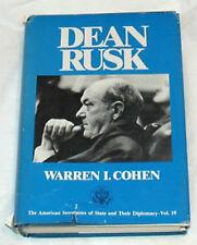 Dean Rusk by Warren I. Cohen Signed