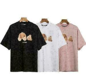 PALM ANGEELS 20 FW ICE BEAR SS T-SHIRT Broken Bear Short Sleeve T-shirt TOPS