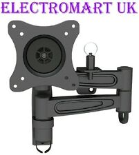 TV DOUBLE ARM LOCKABLE WALL BRACKET CARAVAN MOTORHOME BOAT VESA 75 & 100