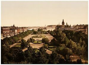 Kungsträdgården Stockholm Sweden ca. 1890