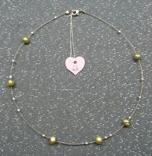 Collier 44cm Halskette Edelsteine Perle creme Murano weiss Silber-Unikat*NEU*26