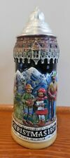 Vintage Schmid First Edition Beer Stein Mug with Lid - Christmas 1971 - Germany