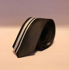 Black Tie With Vertical Stripes - Luxury Men's Fashion Striped Style Necktie