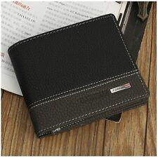 1x Cartera billetera hombre Men Casual Clutch Bifold ID Card Wallet Men In Black