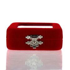 Red Velvet Gift Jewelry Box Case Display Holder for Ring Bracelet Earrings RE