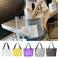 Women Tote Bag Transparent Clear PVC Summer Beach Shoulder Travel Clutch Handbag