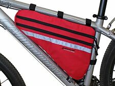 Bushwhacker Fargo Red Bicycle Frame Bag Cycling Pack Seat Top Tube Bike Wedge