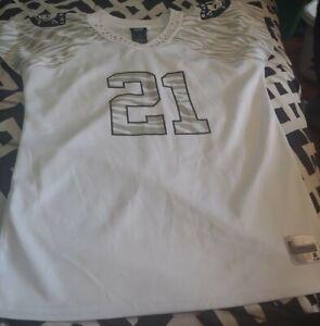 Team Apparel Reebok Jersey Womens Size Large EUC Oakland Raiders Asomugha 21