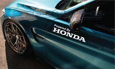 "Powered By Honda Decal Sticker logo emblem Vtec Civic Type R Accord 12"" Pair"