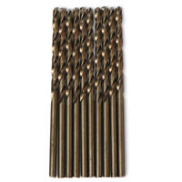 """10PCS 17/64""""x4-1/8"""" Cobalt Drill Bits Set HSS M35 Jobber Length Metal Drill Bit"""