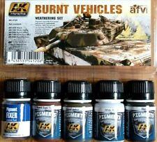 AK Interactive Burnt Vehicles Weathering Set For Models