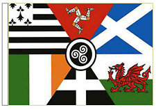 Pan Celtic Nations Sleeved Courtesy Flag ideal for Boats 45cm x 30cm