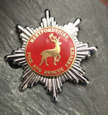 More details for hertfordshire fire and rescue service cap badge.