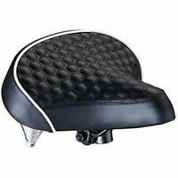 Schwinn Quilted Wide Cruiser Saddle. Bicycle Bike Extra Soft Foam Seat Cushy NEW