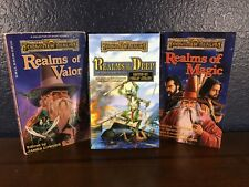 Dungeons & Dragons FORGOTTEN REALMS Novel BOOK LOT (of Valor Magic Deep) PB TSR