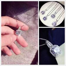 Fashion Charm Jewelry Crystal Pendant Chain Chunky Statement Choker Necklace