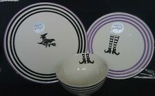 More details for new tk maxx witch dinner side plate bowl set goth pagan wedding halloween