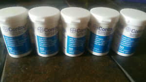 SALE! 250ct test strips, 5-50 CT CONTOUR REGULAR vials, exp 2/21. Free shipping