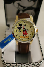 New Disney Mickey mouse, MEN leather band watch, Quartz  new/warranty