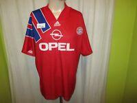 """FC Bayern München Original Adidas Heim Trikot 1991-1993 """"OPEL"""" Gr.L"""