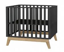 Pericles Gitterbett Malmo schwarz Abmessungen: 98 x 78 x 83,5 cm (L x B x H)