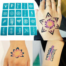 20x OPHIR Body Painting Temporary Tattoo Stencils Henna Glitter Templated Set