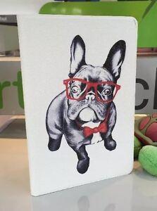 Ipad Mini 1/2/3 Retina Folio Case - Cute Bull Dog Design