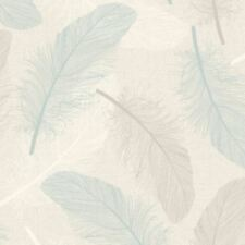 Holden Maisey Feather Pattern Wallpaper Leaf Glitter Embossed Metallic 75761