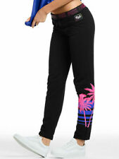 NWT Victoria Secret Pink Palm Tree Sweat Pants Straight Leg Pants Small