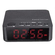 Bluetooth Digital Alarm Clock Stereo Speaker LED Display FM Radio Mp3