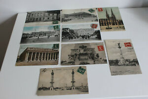 Cartes postales Anciennes Bordeaux Fac Médecine Théâtre Jardin Début XXe CPA