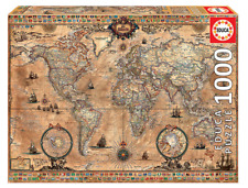 Antique World Map 1000 pieces JIGSAW EDUCA NEW SEALED free shipping US/CANADA