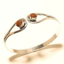 Cute Silver Plated Sunstone Cuff Bangel  Handmade Gemstone Jewelry