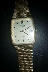 Gents Rotary Gold Plated Calendar  Watch original  box
