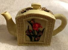 Vintage Nini Handpainted Butterflies Miniature Teapot trinket box -A++ Condition
