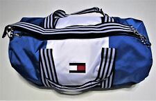 TOMMY HILFIGER LARGE DUFFLE GYM BAG BLUE WHITE NAVY MEN'S WOMEN'S UNISEX NWT