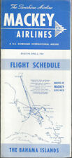 Mackey Airlines system timetable 4/6/64 [9101]