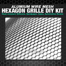 "Universal Perf Hexagon Aluminum Wire Mesh Grille 19""X35"" Sheet Black Powder Coat"