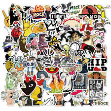 100PCS Rock Hip Hop Stickers Decals for Laptop Luggage Skateboard Wall Graffiti