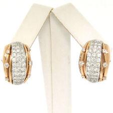 Pendientes de joyería omegas naturales de oro blanco