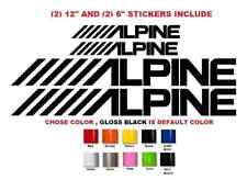 (#499) 4 X Alpine Vinyl car audio speakers stereo Amplifier Decal Sticker