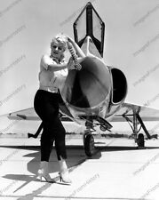 8x10 Print Sexy Model Pin Up Poses with Convair F-102 Delta Dagger #80238