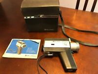 Vintage Bell & Howell Model 339 Super 8 Movie Camera with case and Instructions